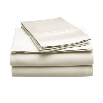 Schoonmaker 300 Thread Count 100% Modal Sheet Set Size: King, Color: Ivory