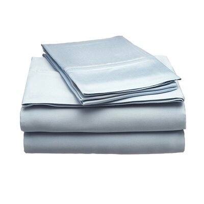 Schoonmaker 300 Thread Count 100% Modal Sheet Set Size: Full, Color: Light Blue