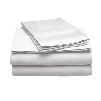 Schoonmaker 300 Thread Count 100% Modal Sheet Set Size: Full, Color: White