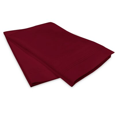 Schueller 100% Long Staple Cotton Pillowcase Size: King, Color: Burgundy