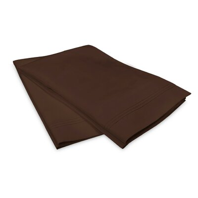 Schueller 100% Long Staple Cotton Pillowcase Size: Standard, Color: Chocolate