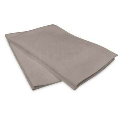 Schueller 100% Long Staple Cotton Pillowcase Size: Standard, Color: Gray