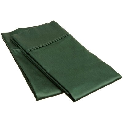Schueller 400 Thread Count Egyptian-Quality Cotton Pillowcase Color: Hunter Green, Size: King