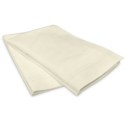 Schueller 400 Thread Count Egyptian-Quality Cotton Pillowcase Color: Ivory, Size: King