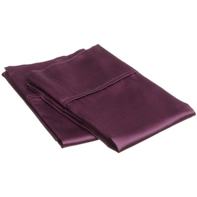 Schueller 400 Thread Count Egyptian-Quality Cotton Pillowcase Color: Plum, Size: Standard