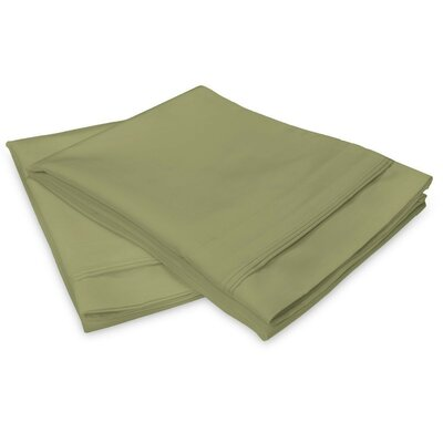 Schueller 400 Thread Count Egyptian-Quality Cotton Pillowcase Color: Sage, Size: Standard