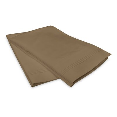 Schueller 400 Thread Count Egyptian-Quality Cotton Pillowcase Color: Taupe, Size: King