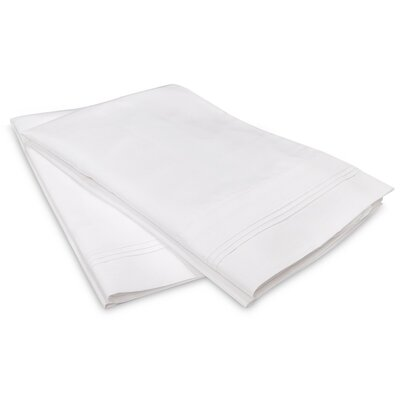 Schueller 400 Thread Count Egyptian-Quality Cotton Pillowcase Color: White, Size: Standard