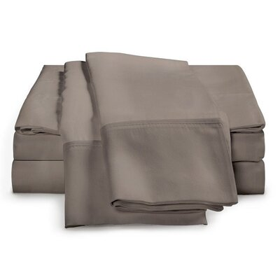 Schumann 4 Piece 300 Thread Count Sheet Set Color: Gray, Size: Queen