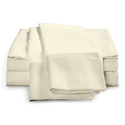 Schumann 4 Piece 300 Thread Count Sheet Set Color: Ivory, Size: Queen