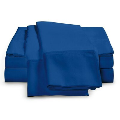 Schumann 4 Piece 300 Thread Count Sheet Set Color: Smoke Blue, Size: King
