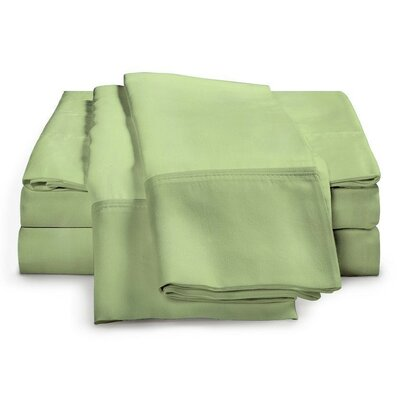 Schumann 4 Piece 300 Thread Count Sheet Set Color: Sage, Size: Queen