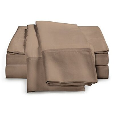 Schumann 4 Piece 300 Thread Count Sheet Set Color: Taupe, Size: Queen