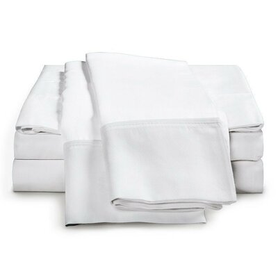 Schumann 4 Piece 300 Thread Count Sheet Set Color: White, Size: King