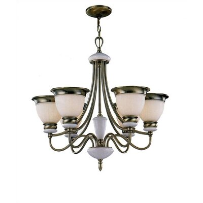 Sabatino 6-Light Shaded Chandelier