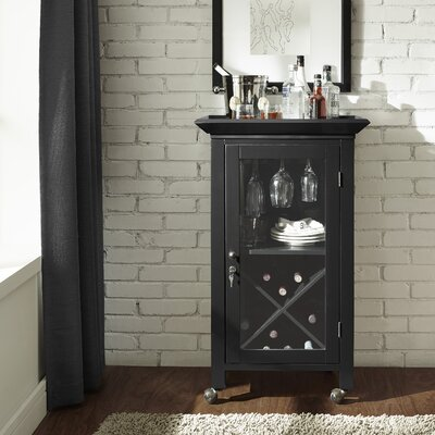 Saltsman Bar Cabinet Finish: Black