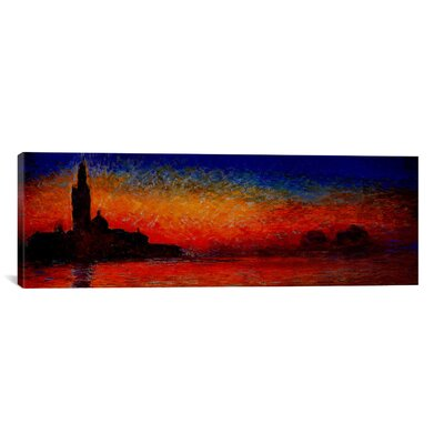'Sunset in Venice' (Panoramic) by Claude Monet Painting Print on Wrapped Canvas Size: 12