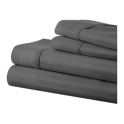 Phillip Becky Cameron Sheet Set Color: Grey, Size: Queen