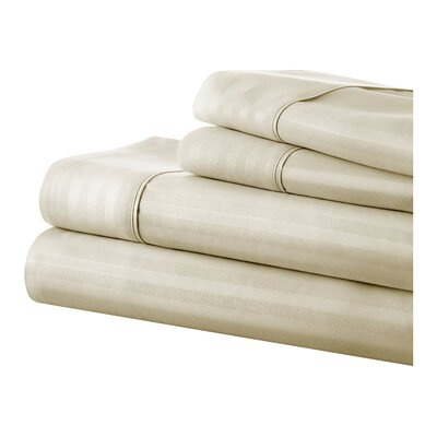 Phillip Becky Cameron Sheet Set Size: King, Color: Cream