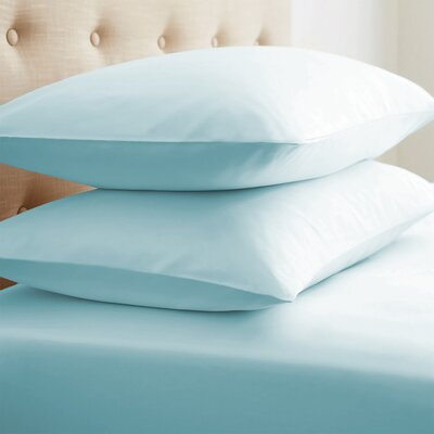 Roscoe Premium Double-Brushed Pillow Case Color: Aqua, Size: Standard