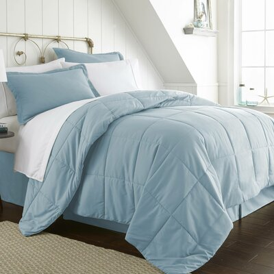 Roscoe Bed-In-A-Bag Set Color: Aqua, Size: California King
