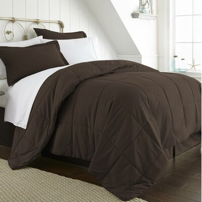 Roscoe Bed-In-A-Bag Set Color: Chocolate, Size: Twin