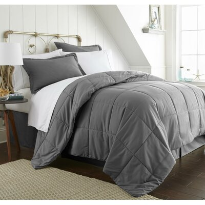 Roscoe Bed-In-A-Bag Set Color: Gray, Size: King