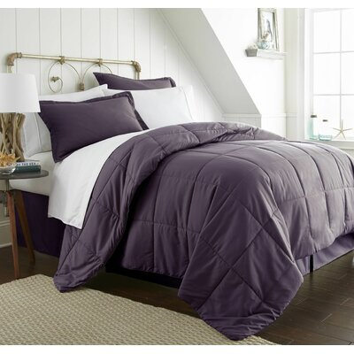 Roscoe Bed-In-A-Bag Set Color: Purple, Size: King
