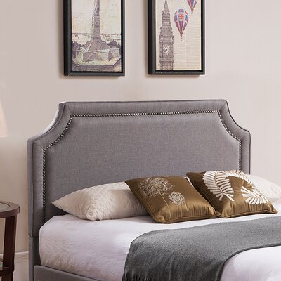 Scoggins Upholstered Panel Headboard Color: Gray, Size: King/California King