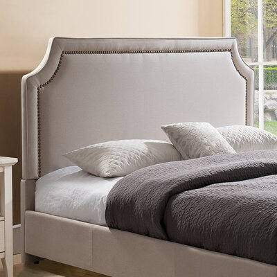 Scoggins Upholstered Panel Headboard Color: Taupe, Size: King/California King