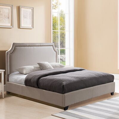 Scoggins Upholstered Platform Bed Color: Taupe, Size: King
