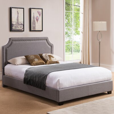 Scoggins Upholstered Platform Bed Size: King, Color: Gray