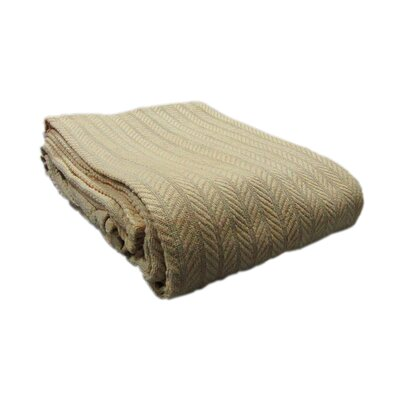 Colbert All Seasons Cotton Cable Throw Blanket Color: Tan, Size: King