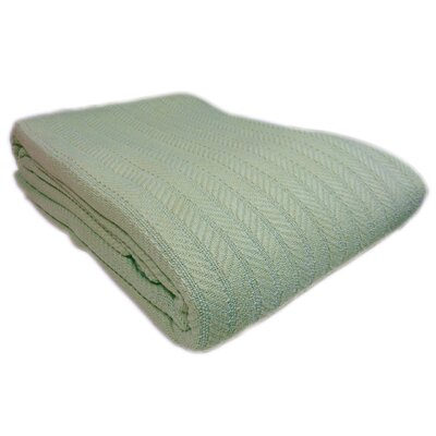 Colbert All Seasons Cotton Cable Throw Blanket Size: King, Color: Sage