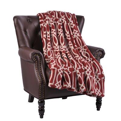Beltway Microfiber Flannel Blanket Color: Rosewood
