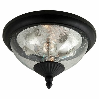 Dowling 2-Light Flush Mount Finish: Black