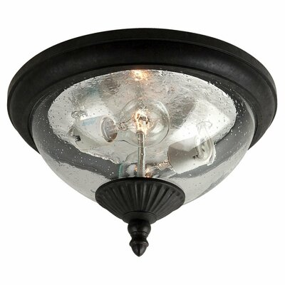 Sellman 2-Light Flush Mount Finish: Oxford Bronze