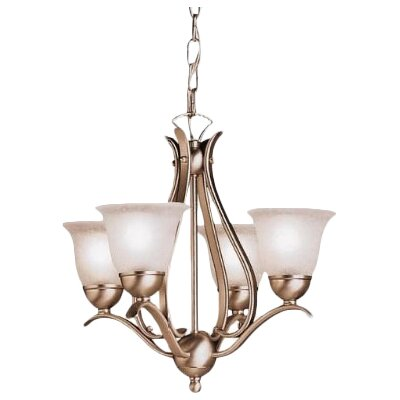 Cayman 4-Light Shaded Chandelier Finish: Brushed Nickel
