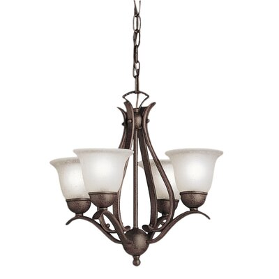 Cayman 4-Light Shaded Chandelier Finish: Tannery Bronze