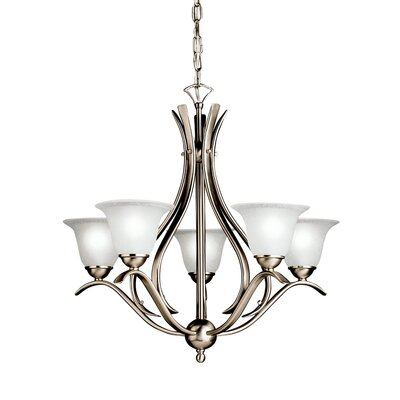 Cayman 5-Light Shaded Chandelier Finish: Brushed Nickel