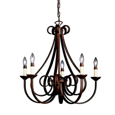 Cayman 5-Light Candle-Style Chandelier