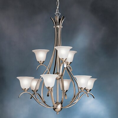 Cayman 9-Light Shaded Chandelier Finish: Brushed Nickel