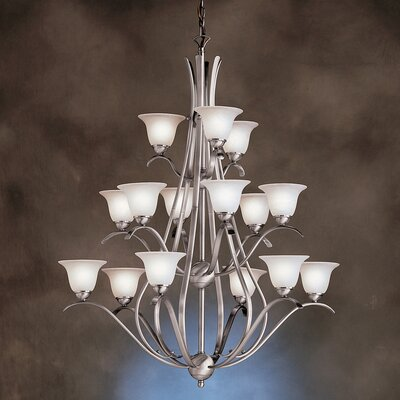 Cayman 15-Light Shaded Chandelier