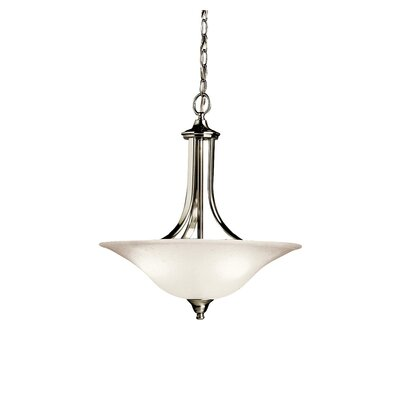 Cayman 3-Light Convertible Inverted Pendant Finish: Brushed Nickel