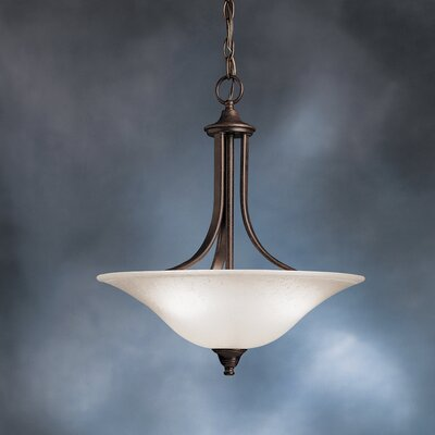 Cayman 3-Light Convertible Inverted Pendant Finish: Tannery Bronze