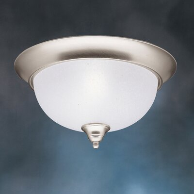 Cayman 2-Light Flush Mount Finish: Brushed Nickel