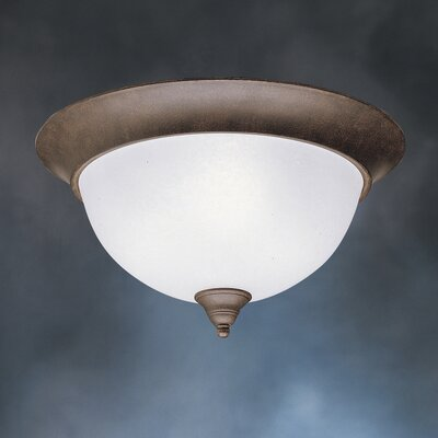Cayman 3-Light Flush Mount Finish: Tannery Bronze