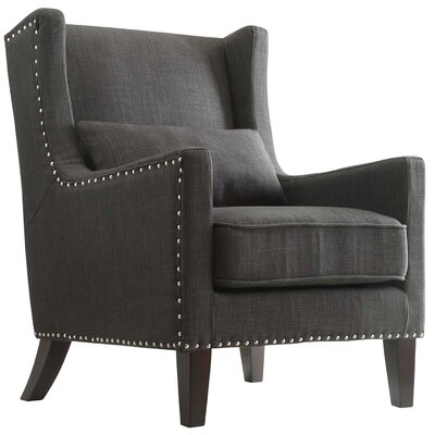 Oneill Wingback Chair Upholstery: Dark Gray