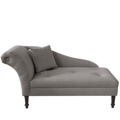 Aaron Chaise Lounge Upholstery: Steel Grey