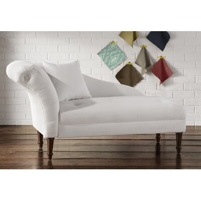 Aaron Chaise Lounge Upholstery: White